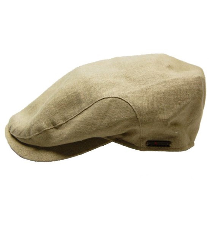 Natural Linen Cap (Size 56 Only) by Wigens