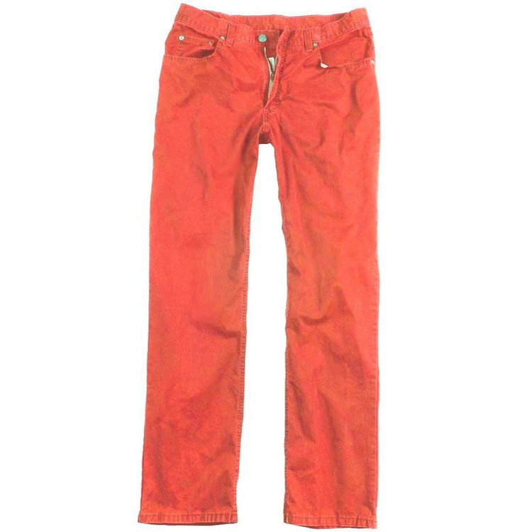Bleeker Twill 5-Pocket Jeans in Poppy (Size 36) by Bills Khakis