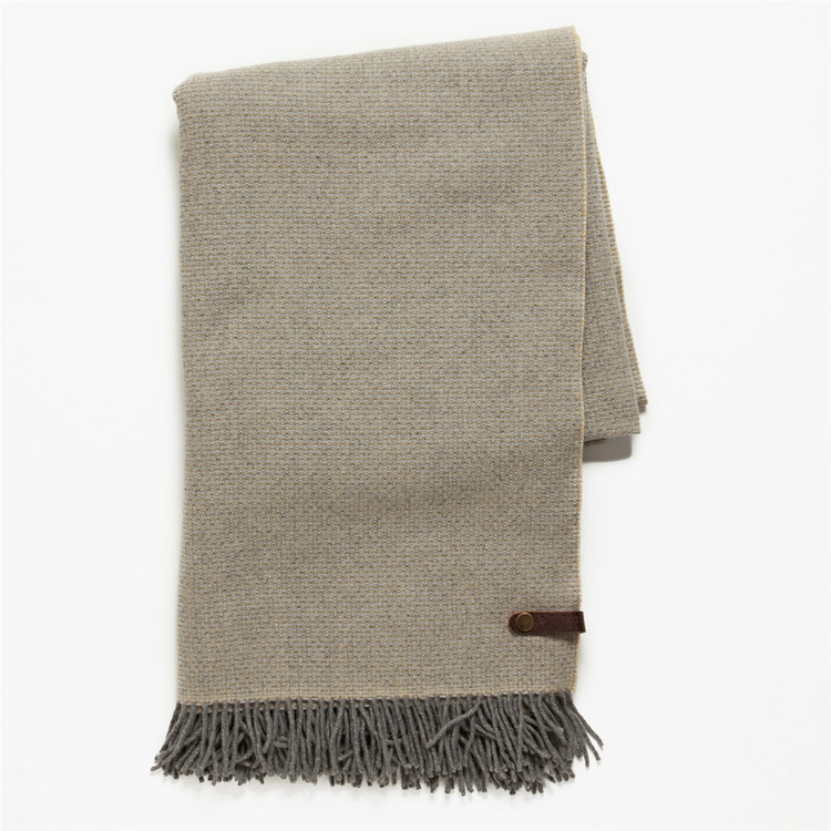 Merino Wool Blanket in Ash by Moore & Giles