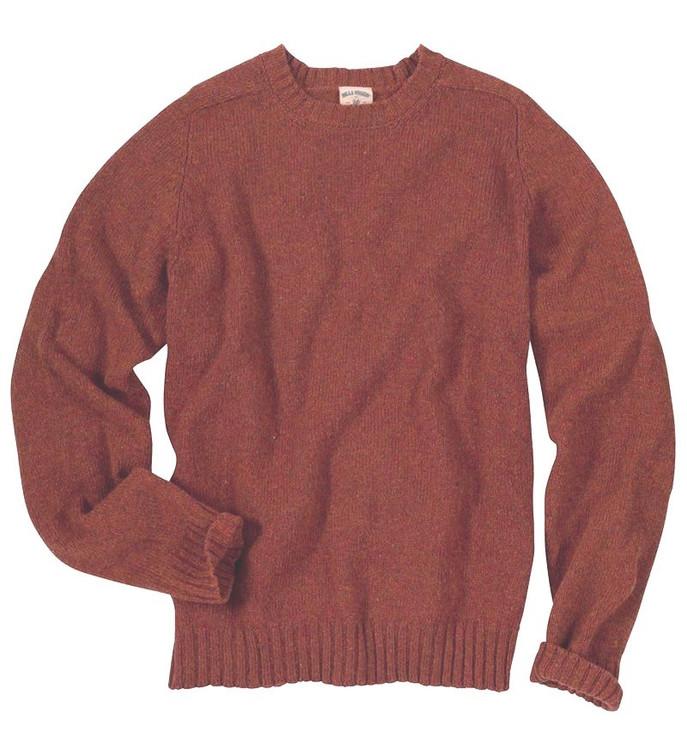 New England Shetland Crew Neck Sweater in Aubergine (Size XX-Large) by Bills Khakis