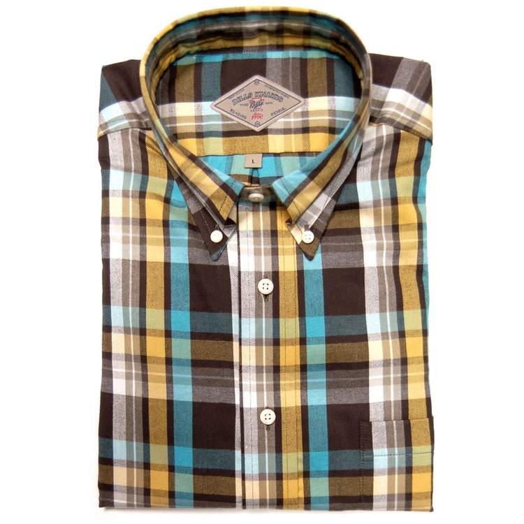 Aberdeen Plaid Sport Shirt in Sable (Size Large) by Bills Khakis