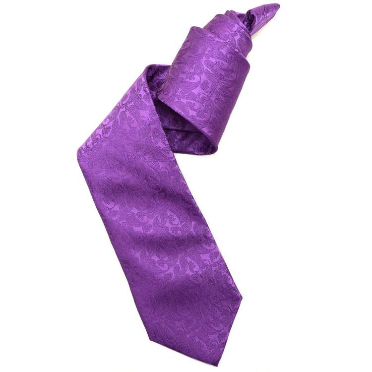 Purple-on-Purple Paisley 'Robert Talbott Protocol' Hand Sewn Woven Silk Tie by Robert Talbott