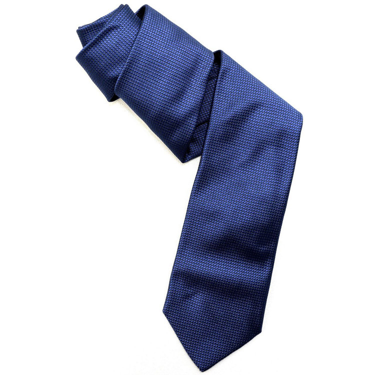 Blue, Black, and White Pindot 'Robert Talbott Protocol' Hand Sewn Woven Silk Tie by Robert Talbott