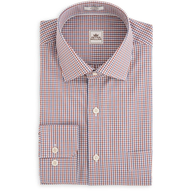 Monterey Multi-Check Sport Shirt in Harvest (Size Medium) by Peter Millar