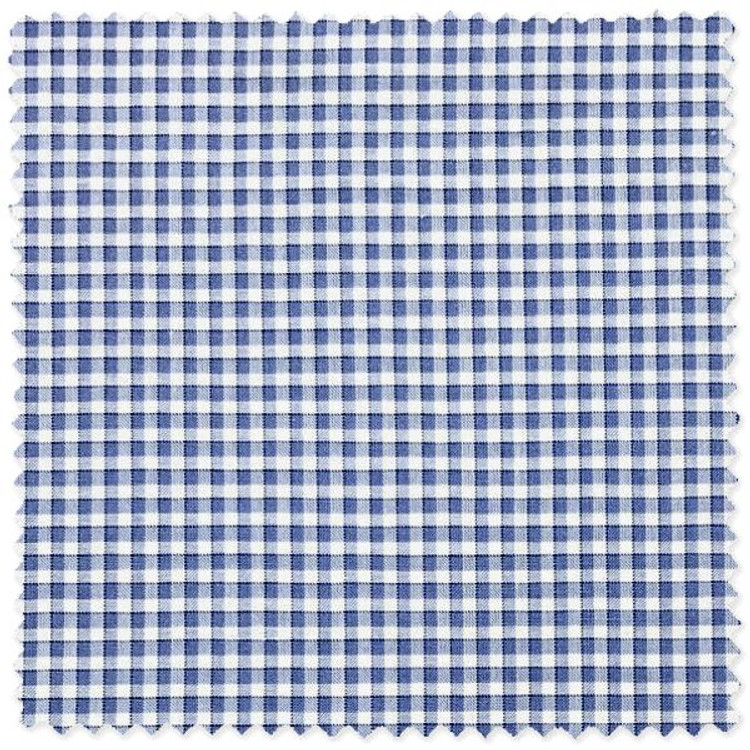 Blue, Navy, and White Micro Check Custom Dress Shirt by Robert Talbott