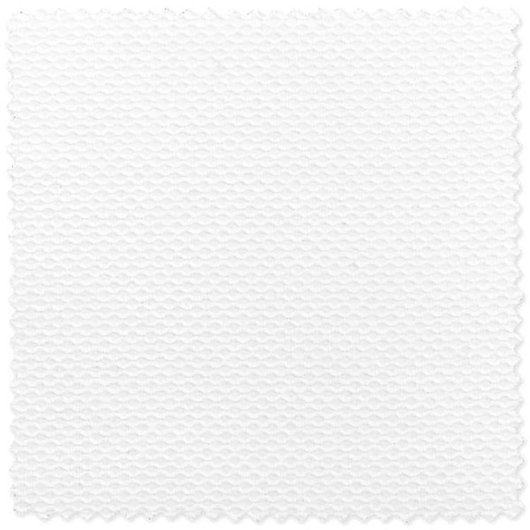 White Birdseye Pique Custom Dress Shirt by Robert Talbott