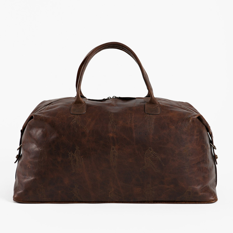 Benedict Weekend Bag in Laser Etched Baldwin Oak (Richard Haines Collection) by Moore & Giles