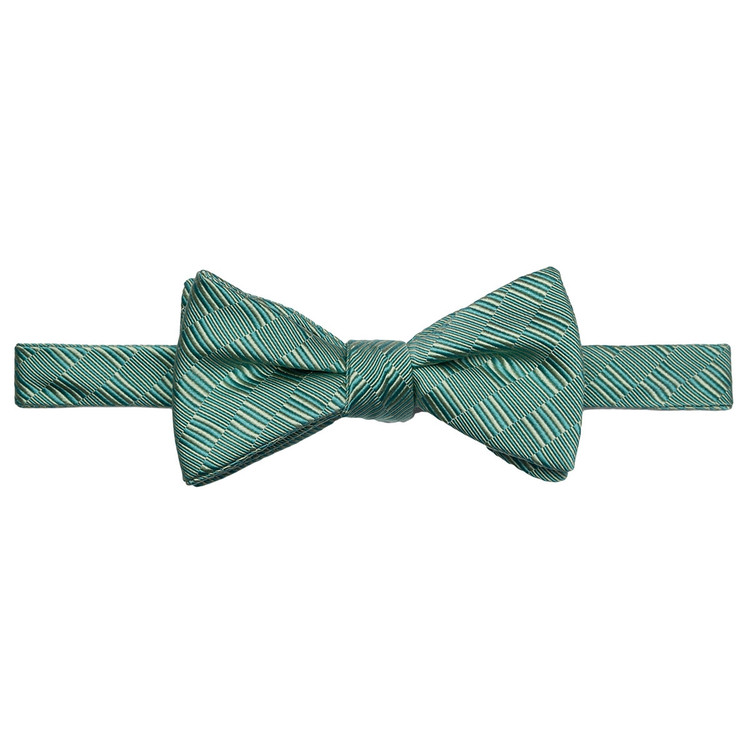 Best of Class Jade Tonal 'Spanish Bay' Hand Sewn Woven Silk and Cotton Bow Tie by Robert Talbott