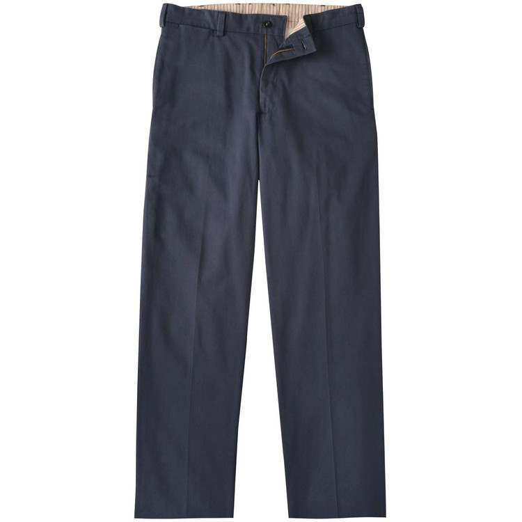Vintage Twill Pant - Model M2 Standard Fit Plain Front in Navy by Bills Khakis
