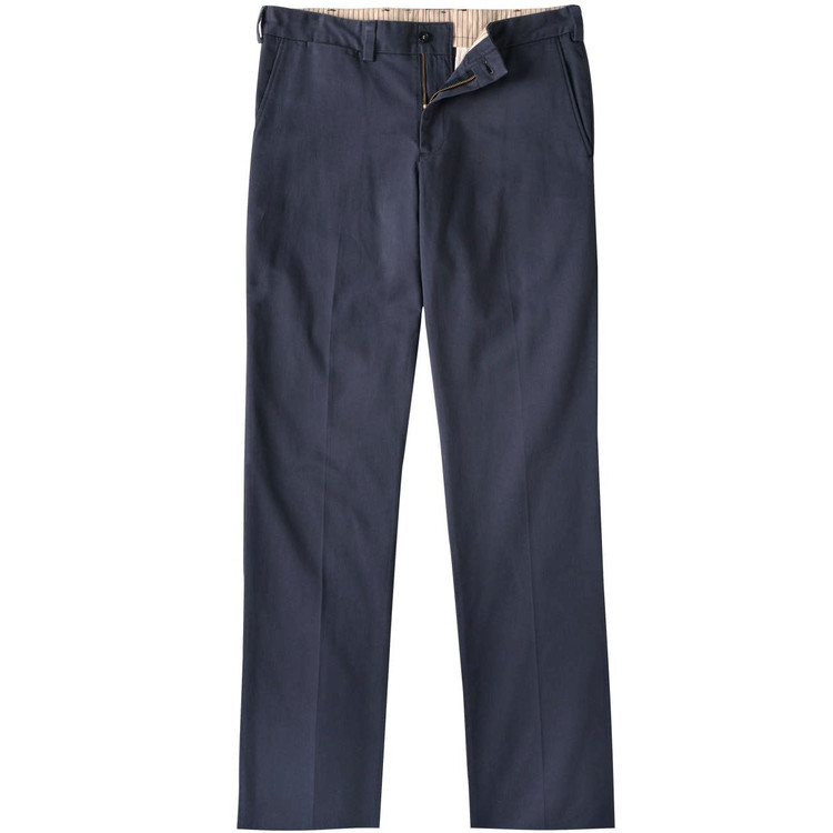Vintage Twill Pant - Model M3 Trim Fit Plain Front in Navy by Bills Khakis