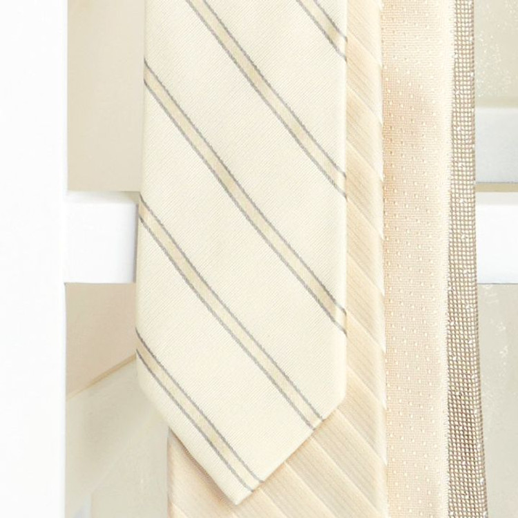 Oyster Stripe 'Robert Talbott Protocol' Hand Sewn Woven Silk Tie by Robert Talbott