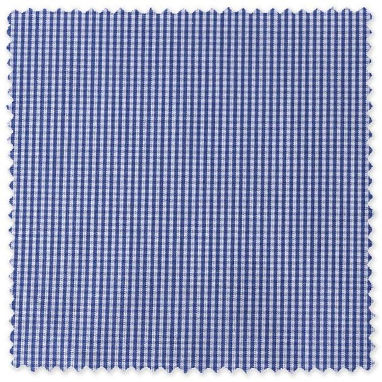 Blue and White Micro Check Custom Dress Shirt by Robert Talbott