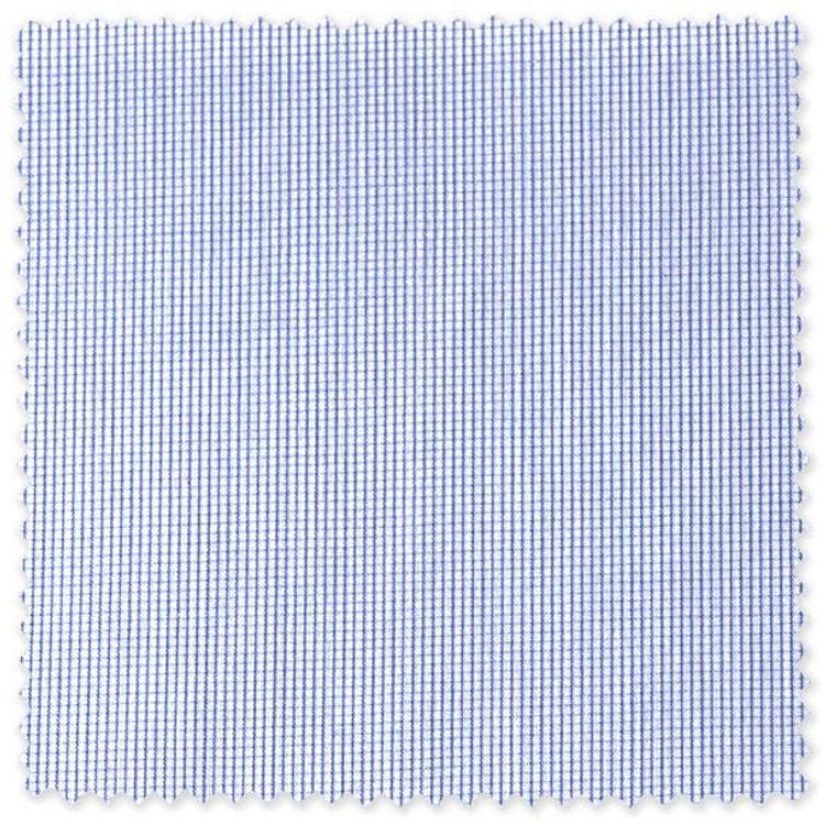 Blue Micro Check Custom Dress Shirt by Robert Talbott