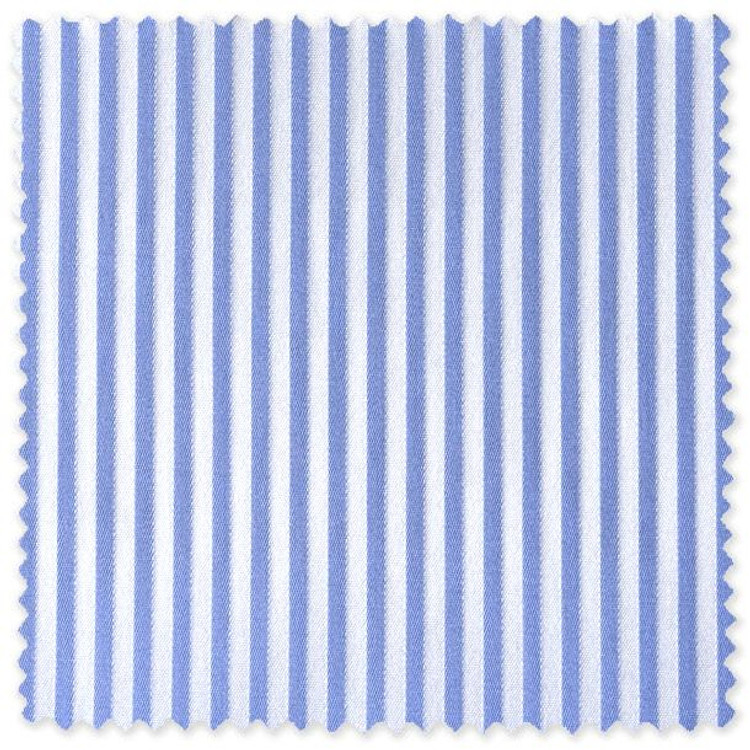 Blue and White Narrow Stripe Custom Dress Shirt by Robert Talbott