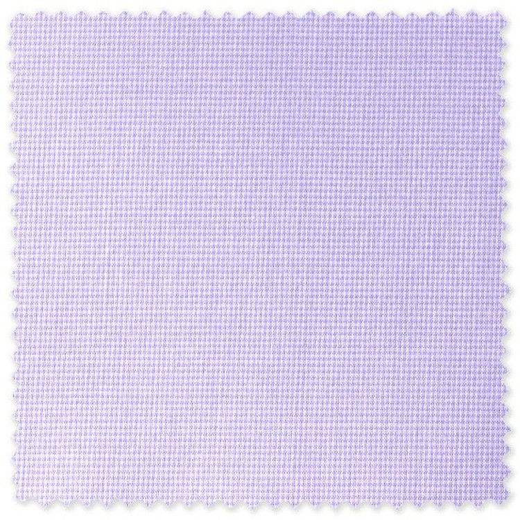 Lavender Micro-Tooth Check Custom Dress Shirt by Robert Talbott