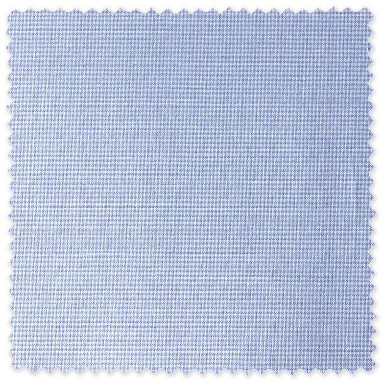 Blue Micro-Tooth Check Custom Dress Shirt by Robert Talbott