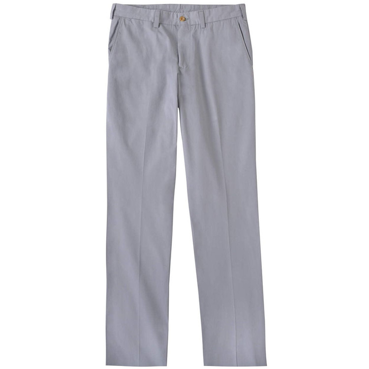 Tropical Poplin Pant - Model M3 Trim Fit Plain Front in Nickel by Bills Khakis