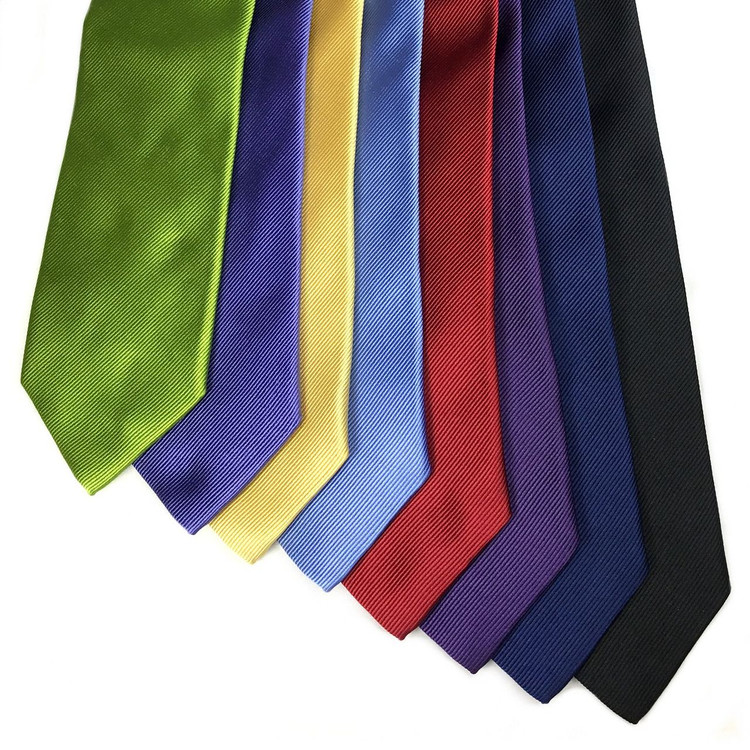 Best of Class Solid Silk Faille Woven Silk Tie in Choice of Colors by Robert Talbott