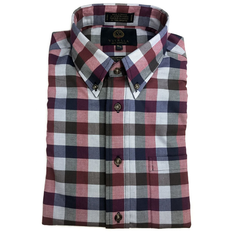 Cardinal Watch Tartan Shirt (Size Medium) by Viyella