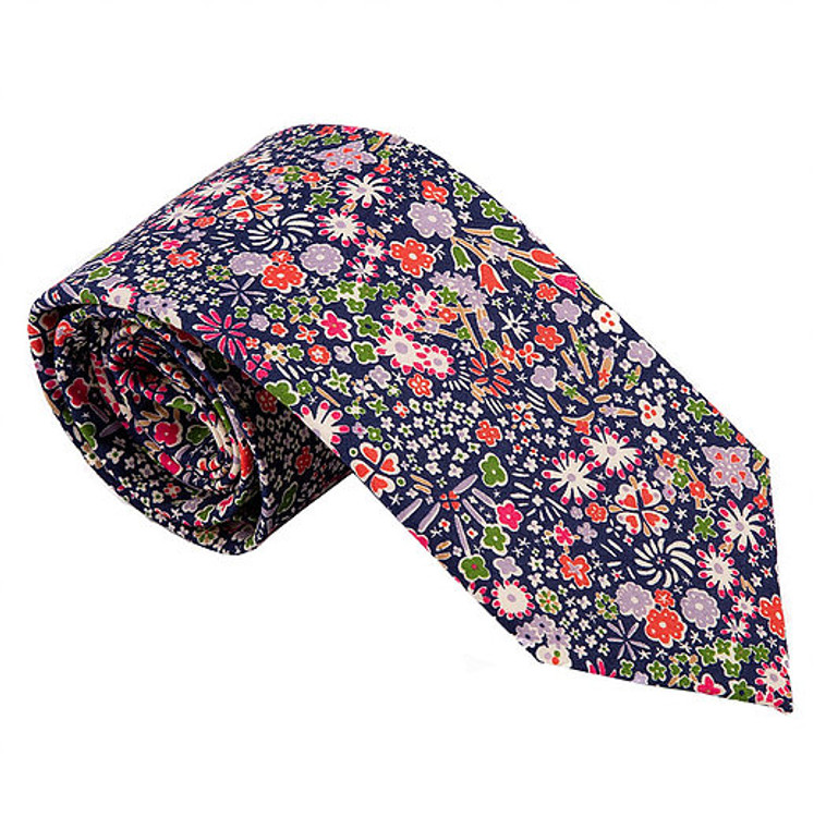 'Kent' Abstract Floral Lawn Cotton Tie by Trumbull Rhodes