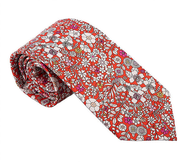 'Whitehaven' Floral Lawn Cotton Tie by Trumbull Rhodes