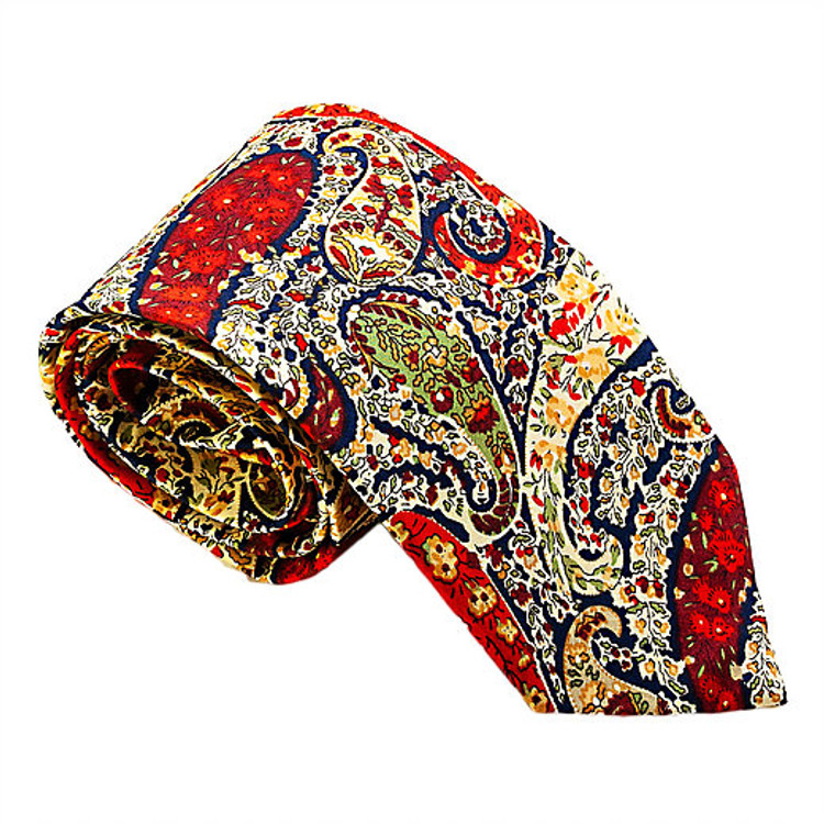 'Greenwich' Paisley Lawn Cotton Tie by Trumbull Rhodes