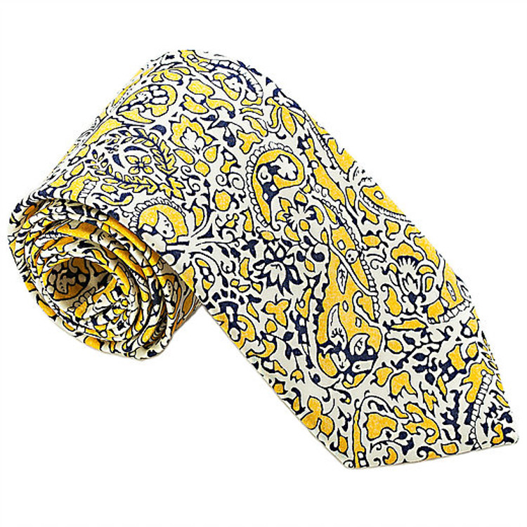 'Primrose Hill' Floral Paisley Lawn Cotton Tie by Trumbull Rhodes