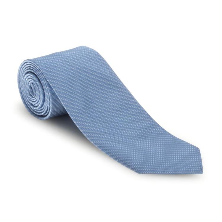 Blue 'Robert Talbott Protocol' Hand Sewn Woven Silk Tie by Robert Talbott