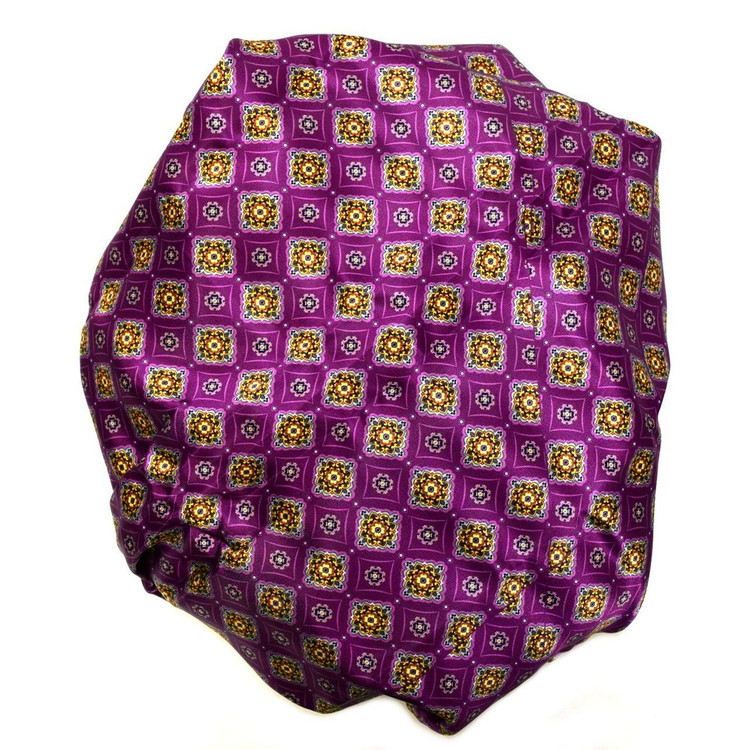Custom Made Purple Medallion Silk Estate Tie by Robert Talbott
