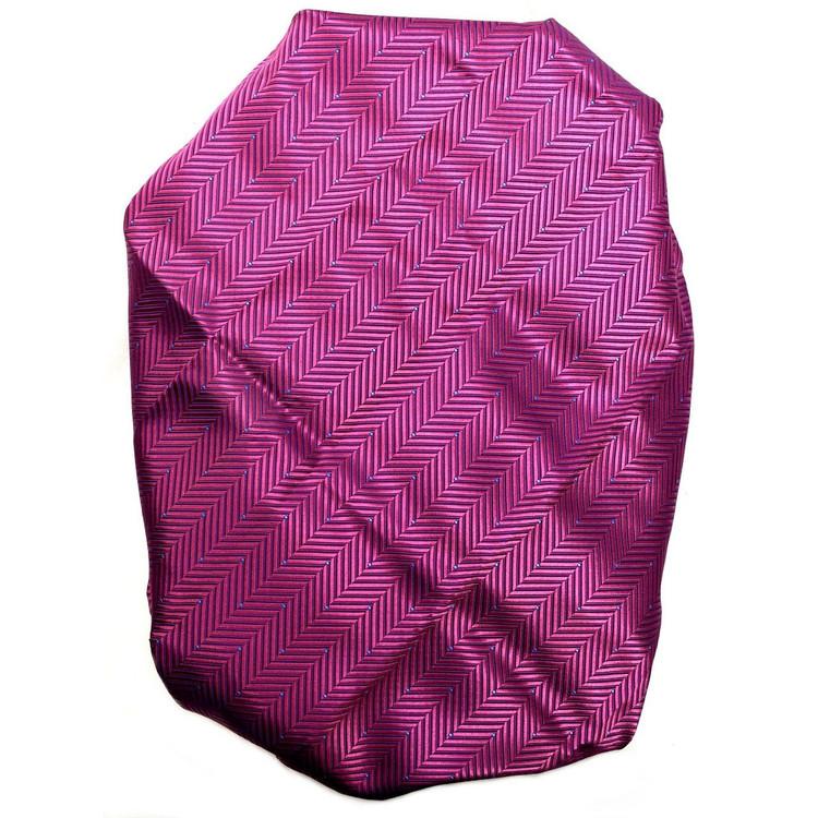 Custom Made Fuchsia and Navy Herringbone Silk Estate Tie by Robert Talbott