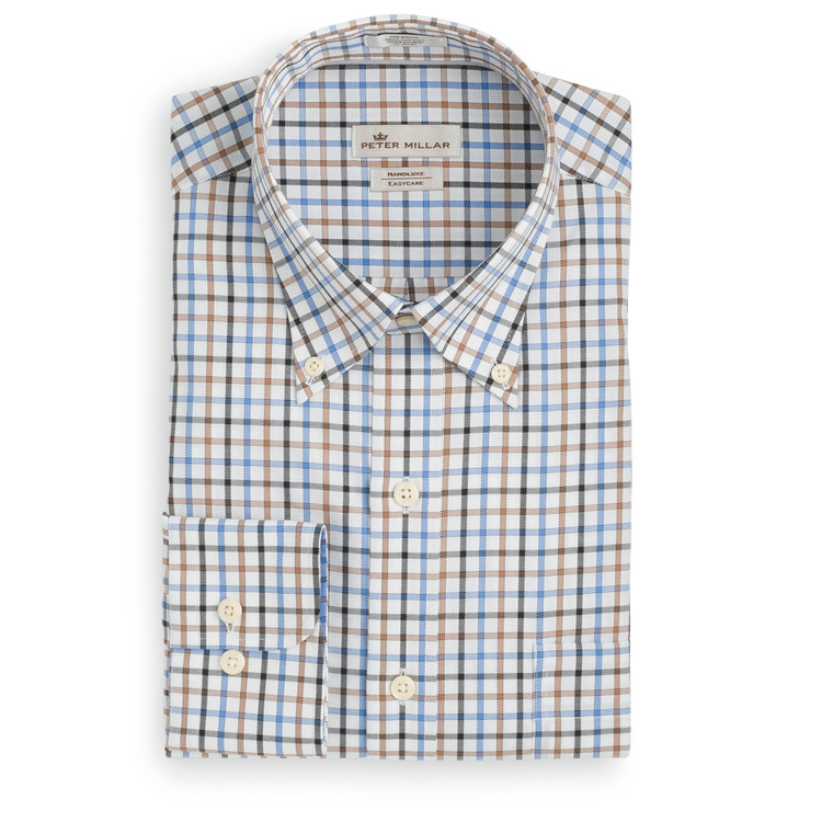 Nanoluxe Multi-Pinwheel Sport Shirt in Vessel (Size Large) by Peter Millar