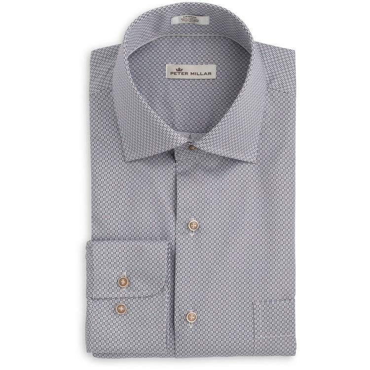 Petite Fleur Sport Shirt in Blackberry (Size Medium) by Peter Millar