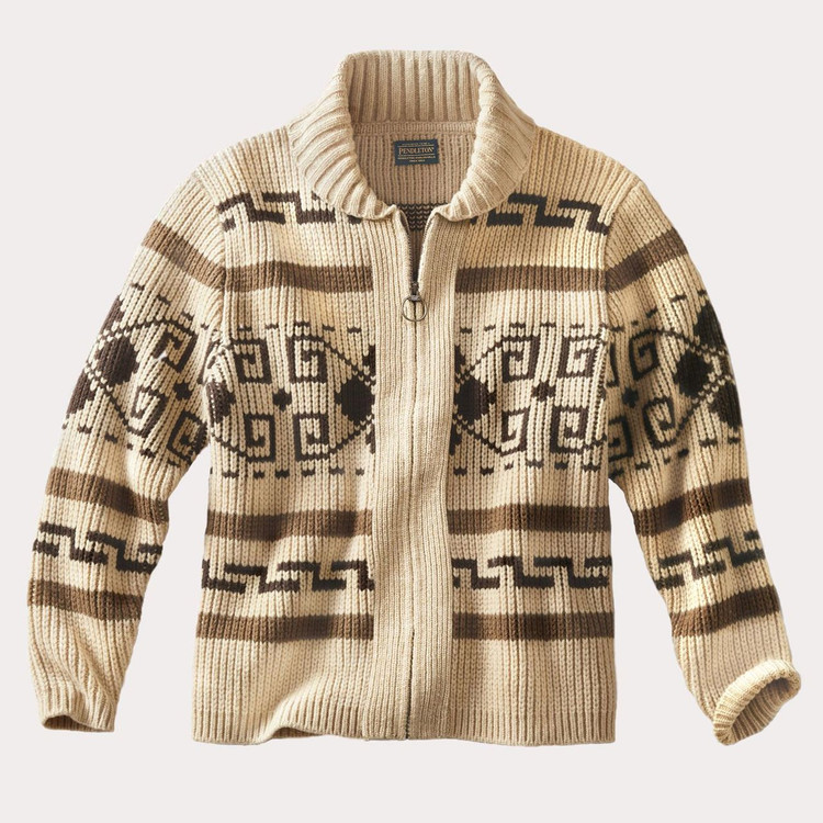 The Original Westerley Cardigan Sweater in Tan (Size X-Large) by Pendleton
