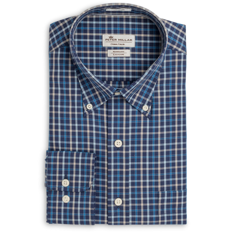 Nanoluxe Multi-Pinwheel Sport Shirt in Arctic Night by Peter Millar