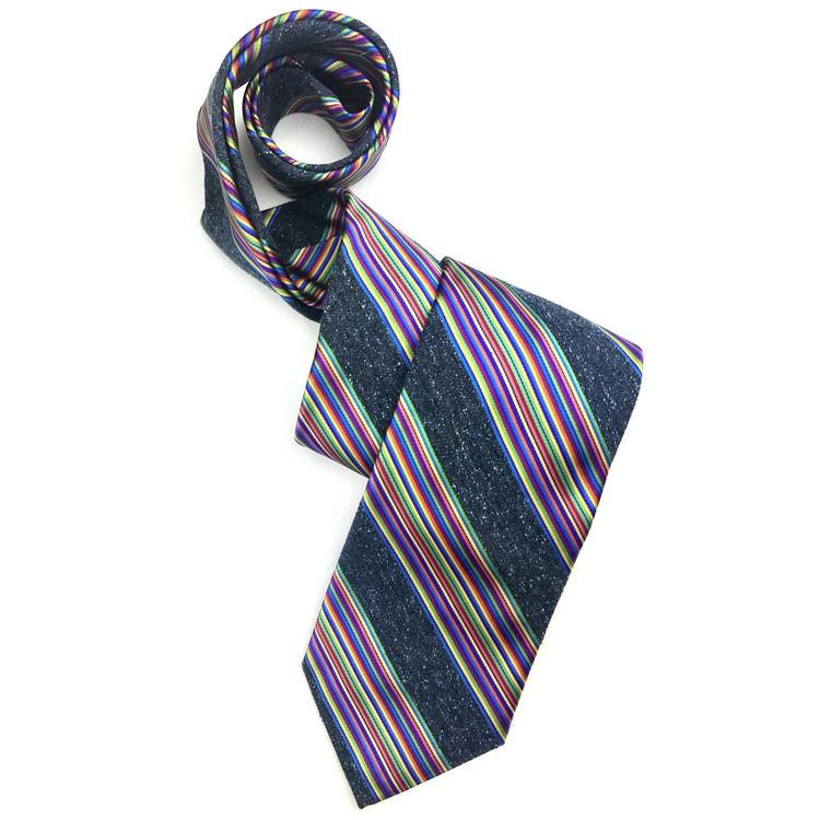 Fall 2017 Best of Class Navy and Multi 'Seasonal' Woven Silk Tie by Robert Talbott