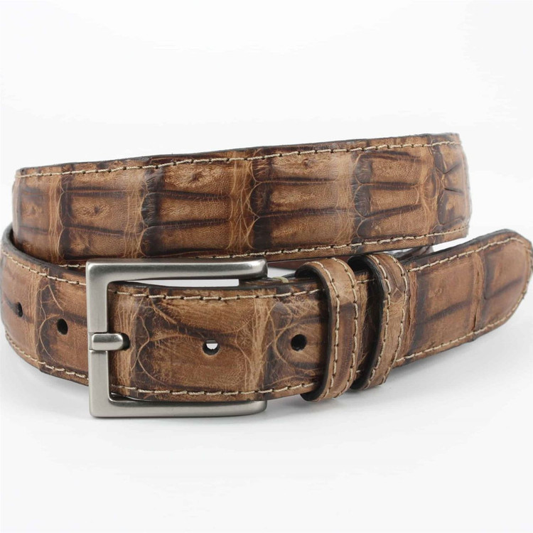 Vintage South American Caiman Tail Belt in Saddle (Size 34) by Torino Leather Co.