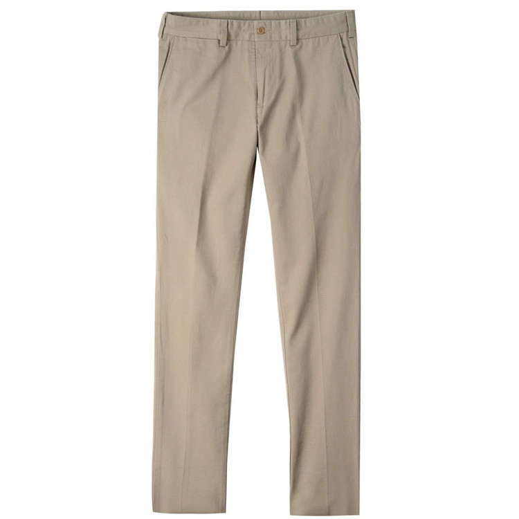 Original Twill Pant - Model M4 Slim Fit Plain Front in Khaki by Bills Khakis