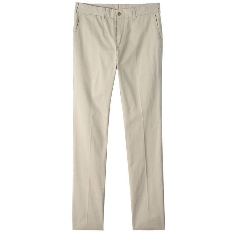 Chamois Cloth Pant - Model M4 Slim Fit Plain Front in Khaki by Bills Khakis