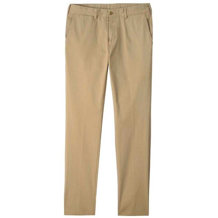 Chamois Cloth Pant - Model M4 Slim Fit Plain Front in Camel by Bills Khakis