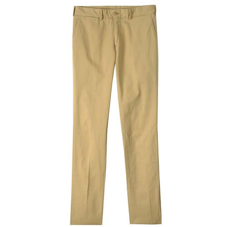Montgomery Stretch Twill Pant - Model M4 Slim Fit Plain Front in British Khaki by Bills Khakis