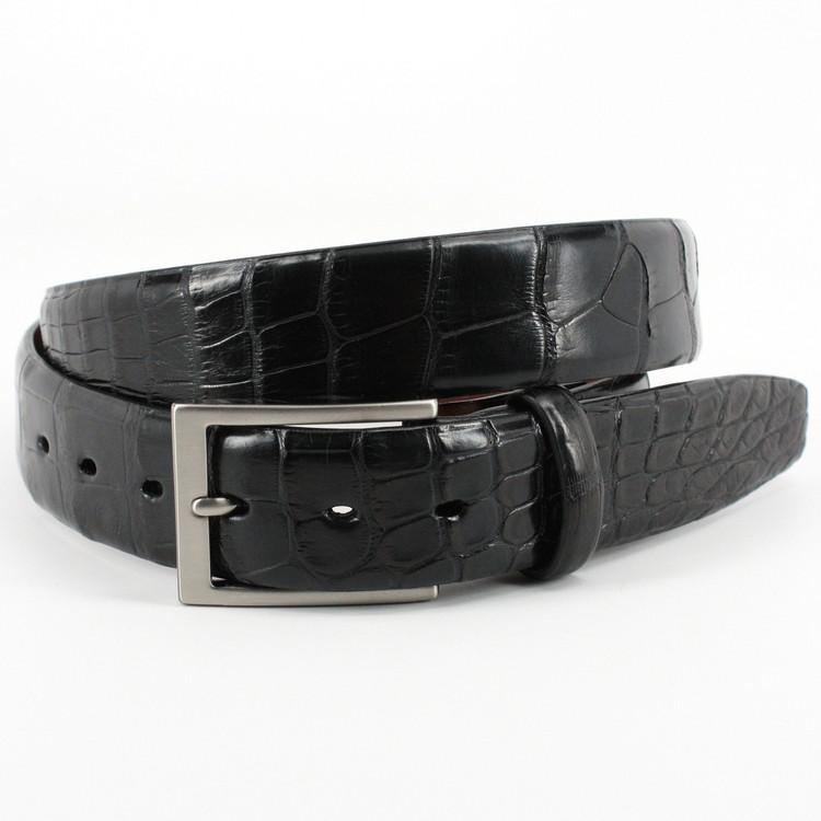 American Alligator Belt in Black Matte by Torino Leather Co.