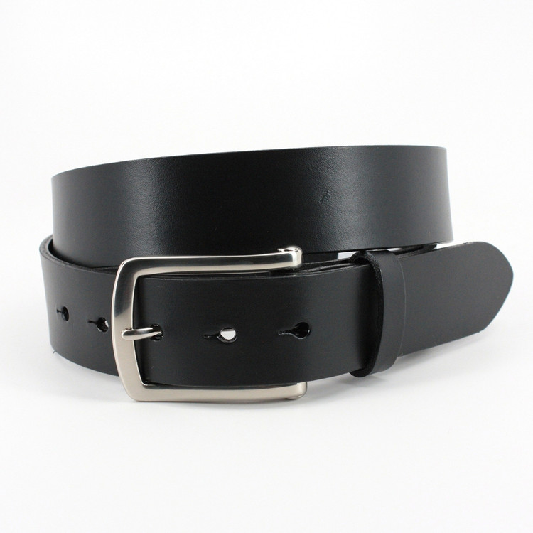 Bridle Harness Leather Belt in Black by Torino Leather Co.
