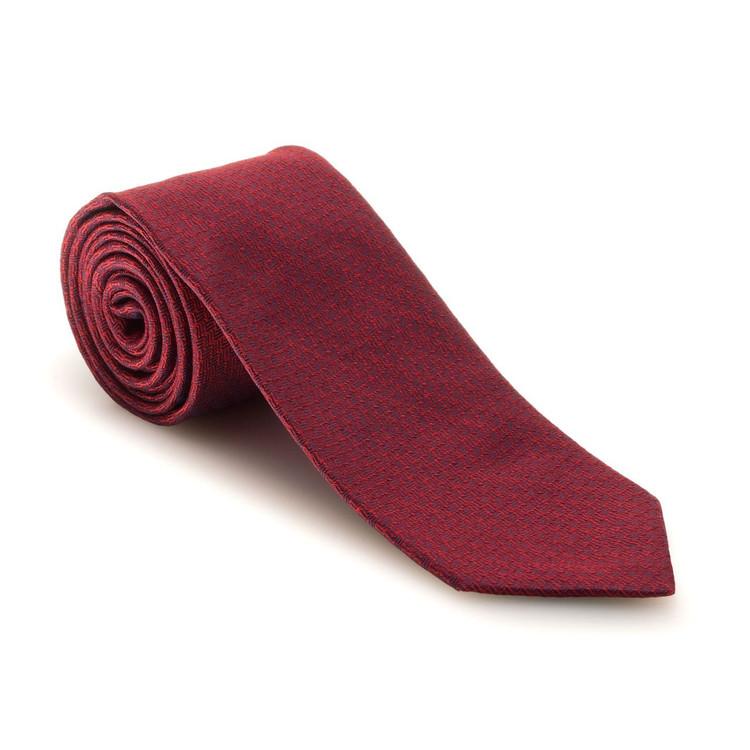 Best of Class Red and Blue Geometric 'Venture' Woven Silk Tie by Robert Talbott