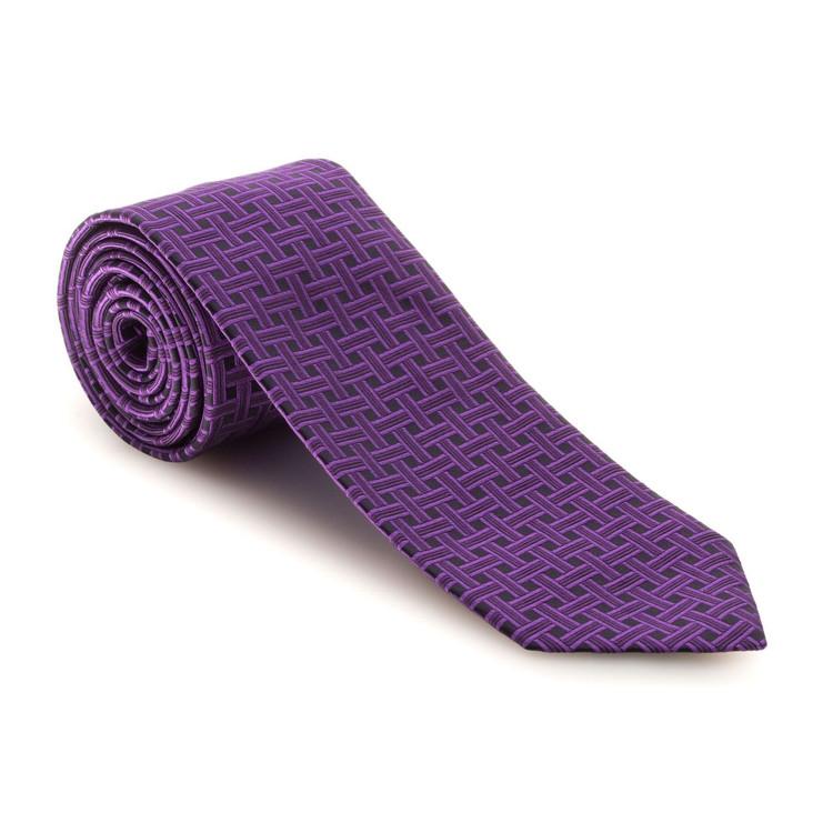 Fall 2017 Best of Class Purple Basketweave 'Executive' Woven Silk Tie by Robert Talbott