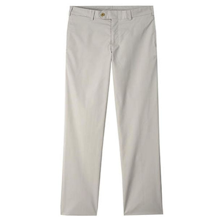 Travel Twill Pant - Model M2 Standard Fit Plain Front in Cement by Bills Khakis