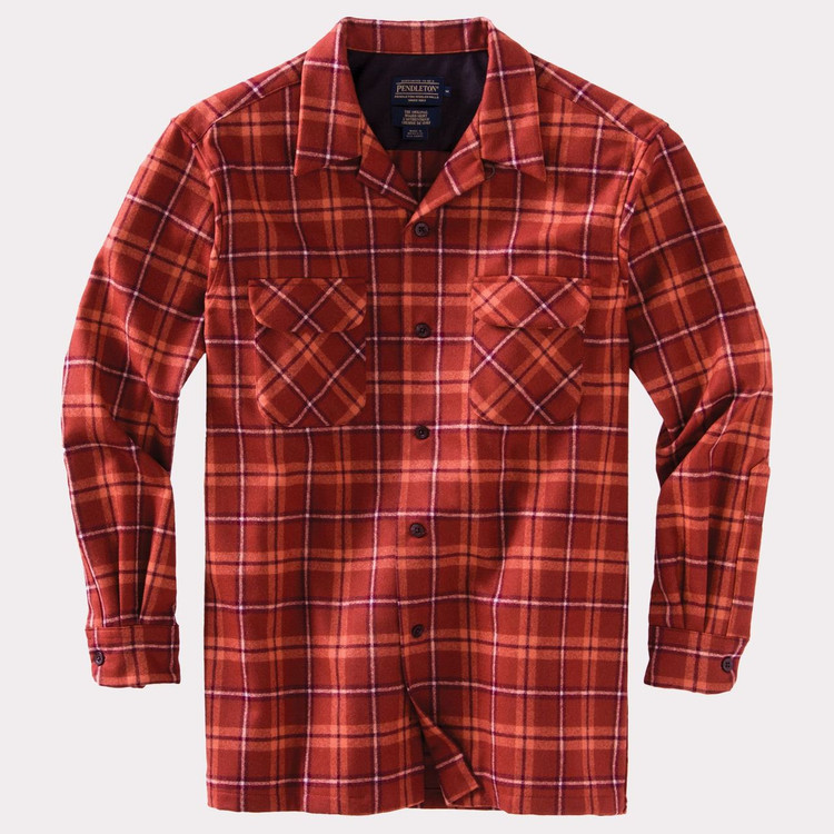 Copper Plaid Board Shirt by Pendleton
