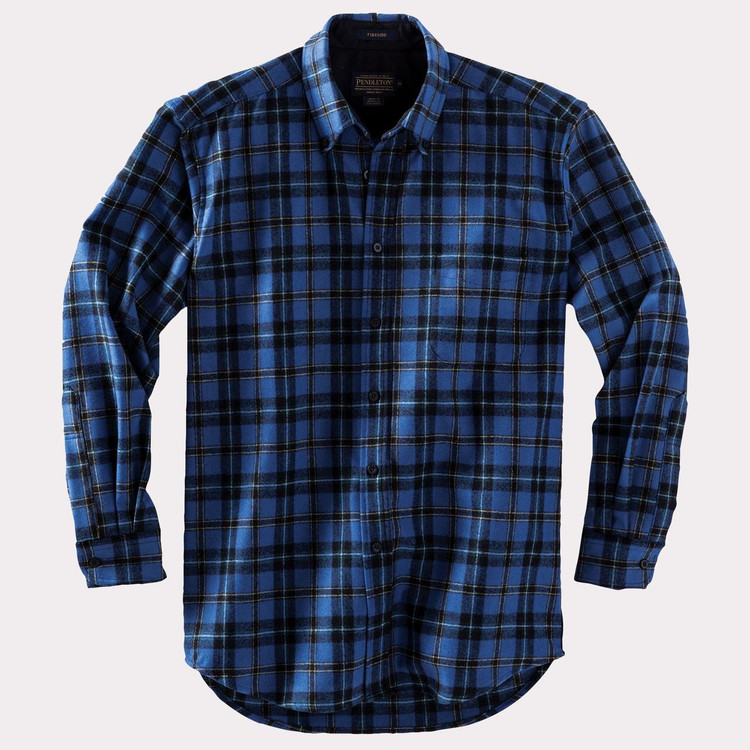 Fireside Shirt in Blue Weir Tartan by Pendleton