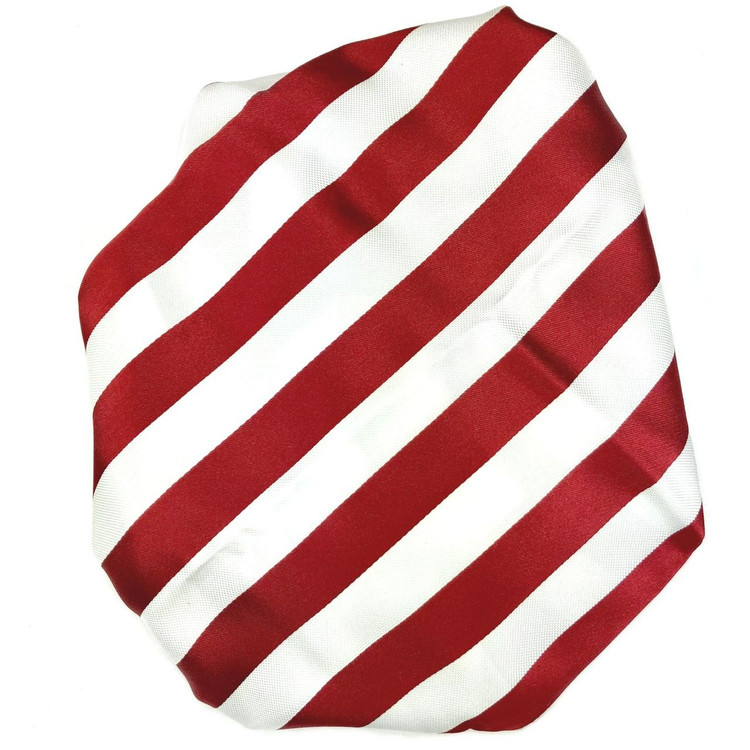 Custom Made Red and White Multi-Textured Stripe Best of Class Silk Tie by Robert Talbott