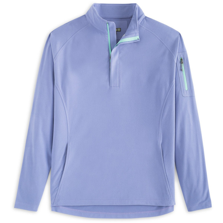 'Whisper' Lightweight Wind Suede Quarter-Zip in Thunderbird by Peter Millar