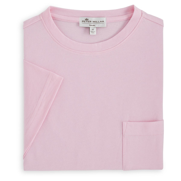 Seaside Pocket Tee in Dusk Pink by Peter Millar